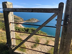 View Behind The Gate (Marc Sayce New 1) Tags: wooden gate swcp flowers barrow tout worbarrow bay lulworth ranges jurassic coast purbeck dorset summer august 2019