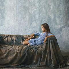 Masha. (matveev.photo) Tags: girl light legs young sunlight teenage teen studio matveev blue hands shadow child portrait people photography