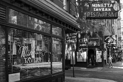 Crossroads (Kenneth Laurence Neal) Tags: newyorkcity urban street streetphotography blackandwhite blackdiamond people macdougalstreet minettalane monochrome nikon nikond7100 noir restaurant reflections silverefexpro2