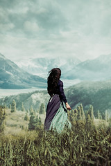 Into the wild (natafiedo) Tags: lanscape mountains brunette historical girl view