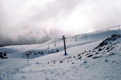 Lift (OzGFK) Tags: ruapehu skifields volcano snowcold snowsports mountain fuji200 fujifilm 35mm fujicolor newzealand turoa ricoh35zf analog cold winter skifield snow pushedfilm push pushprocessing