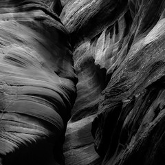 In Canyons 382 (noahbw) Tags: d5000 grandstaircaseescalantenationalmonument nikon ut utah wirepass abstract blackwhite blackandwhite bw canyon cliffs desert erosion monochrome natural noahbw rock slotcanyon spring square stone