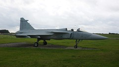 SAAB JAS 39A Gripen 39113 in Såtenäs (J.Comstedt) Tags: aircraft aviation air aeroplane museum airplane flight johnny comstedt saab 93 gripen 39113 f7 swedish force