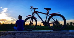 I know I will have to leave this world (rajib045) Tags: bike cycle bicycle sky outside outdoor man portrait blue magura bangladesh samsung samsungs8pus s8plus