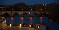 PUENTE DE PIEDRA DESDE LA PUERTA DEL OBISPO (Segundo Sánchez) Tags: puentedepiedra zamora puerta del obispo río duero nocturna
