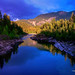 Digital Pastel Drawing of the Middle Fork of the Flathead River