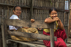 Warm Hearted Smiles (shapeshift) Tags: bench asia candid burma documentary mrauku davidpham mraukoo arakanese davidphamsf street travel people women southeastasia village streetphotography myanmar shapeshift rakhine rakhinestate shapeshiftphoto happyplanet asiafavorites
