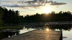 Summer Evening by Water (halleluja2014) Tags: brygga bojsenburg bojsenbeach waterscape sweden falun seneftermiddag lateafternoon solnedgång settingsun evening sjö lake varpan