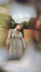 through the looking glass (Melissa Gysen) Tags: sunflare poppies poppyfields teenportraits prismphotography prisms prism