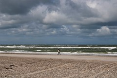Alone with the sea.. (erlingraahede) Tags: poetic people simplicity vsco canon northsea storm nordjylland slettestrand denmark
