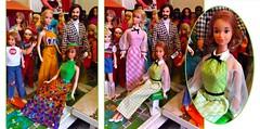QUICK CURL KELLEY (ModBarbieLover) Tags: quickcurl barbie doll kelley mod mattel 1973 ken toy checks curlyhair maxidress redhead blonde house 1970s