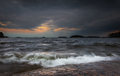 Evening on the beach (Jyrki Salmi) Tags: jyrki salmi mussalo kotka finland evening clouds sea