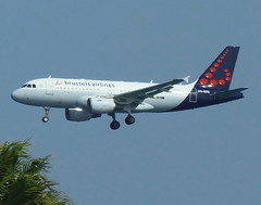 OO-SSG on final for RWY 03 (Ibirdball) Tags: brusselsairlines airbus a319112 oossg lanzarotearrecife ace gcrr