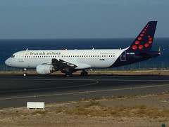 OO-SNG ready for departure from RWY 03 (Ibirdball) Tags: brusselsairlines airbus a320214 oosng lanzarotearrecife ace gcrr