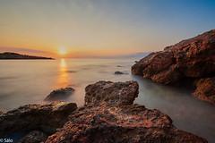 Cala Argilaga (salo75) Tags: agua rocas mediterraneo cielo landscape olas nubes sunrise water peñiscola amanecer seascape paisaje mar beach playa