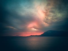 SadFall_27 (SadFo_x1) Tags: sky sun clouds sunset light color colors blue red orange water ocean sea aegean beach nature landscape remembrance travel summer samos kerkis kerketeus greece