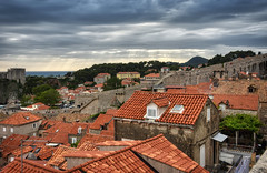 Old Town Rooftops (henriksundholm.com) Tags: city urban oldtown buildings roof rooftops cityscape landscape horizon clouds cloudy sky fortress citywall dubrovnik croatia hdr color
