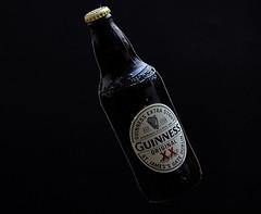 Guinness (Bernie Condon) Tags: guinness stout irish beer alcohol bottle black white background flash studio