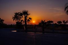 sunset @ Kos, Greece (Schwarzwaldfotograf) Tags: kos sonnenuntergang abend nikon d750 20mm 18g natural light bike sky mood sunset palm