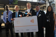 The morning after the prorogation (Steve Bowbrick) Tags: station announcement conservative mp oyster press radlett minister thameslink contactless grantshapps oliverdowden government