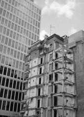 Contrasts of Warsaw (Analog World Thru My Lenses) Tags: fujicahalf kosmofotobw100 may 2019 warszaw warszawa halfframe halfformat analog film 35mm blackandwhite blackeyssupergrainfilm bw street