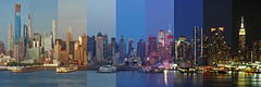 Midtown timelapse (sonic182) Tags: midtown manhattan timelapse day night hdtr high dynamic time range photolapse new york city usa united states america weehawken jersey hamilton park evening blue hour dusk panorama