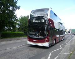 Route diverted! Lothian 1109 on Broughton Road, Edinburgh. (calderwoodroy) Tags: bus scotland edinburgh broughton doubledecker broughtonroad lothian lothianbuses edinburghtransport lothian100 transportforedinburgh lothianbusescentenary lothiancity 1109 service11 sj19oyl volvo adl alexanderdennis b8l enviro400xlb