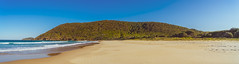 Booti Booti Hill, Booti Booti National Park, from Seven Mile Beach (Peter.Stokes) Tags: vacation panorama holiday colour nature landscape outdoors photography coast landscapes photo australian australia nsw newsouthwales vacations 2019 colourphotography sevenmilebeach bootibootinationalpark bootibootihill beach sea sand