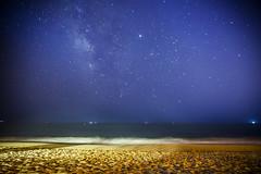 milky way (alvarotorresvallejo) Tags: milkyway stars national beach summer sand astrnomy longexposure waves atlantic sea blue algarve canon benro