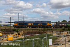 Hopping to it (CS:BG Photography) Tags: class66 tonyberkeleyobe shed 66755 gbrf gbrailfreight aggregatetrain ecml eastcoastmainline peterborough werringtonjunction