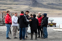 Prime Minister greets the Nauttiqsuqtiit. (Clare Kines Photography) Tags: arctic primeminister parkscanada primeministervisit tallurutiupimanganmca arcticbay nunavut victorbay guardianprogram guardians justintrudeau jonathanwilkinson canada catherinemckenna north nauttiqsuqtiit