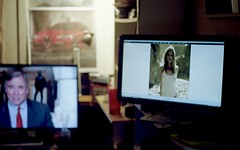 (bluebird87) Tags: woman monitor nikon f100 kodak ektar film dx0 c41 epson v600