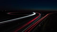 Interchange (Christoph Wenzel) Tags: nacht auto tamron2875mmf28diiiirxd strase coburg sommer sonyalpha7riii lichtspuren dunkelheit linien bayern langzeitbelichtung deutschland dörflesesbach