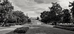 Andrew Jackson Statue in front of the White House (pegase1972) Tags: us usa washington dc explore explored bw monochrome whitehouse