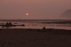 Reminiscing (woodwindfarm) Tags: oregon coast beach smoky sunset cape lookout