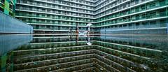 平 行 時 空 (Wilson Au | 一期一会) Tags: hongkong xe2 fujifilm xf1024mmf4rois fujinon 219 reflection housing kowloon color shekkipmei water residential 香港 lines