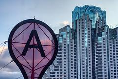 (sur_hp) Tags: sanfrancisco california usa architecture building hotel sculpture sky clouds skyscraper window reflection