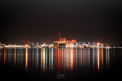 Long Exposure (diegographyx) Tags: vancouver canada canon 80d travel diegographyx long exposure larga exposicion light night city buildings water reflect colors tones lines windows lights