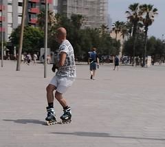 Roller Blading (Bury Gardener) Tags: barcelona spain europe catalonia 2019 streetphotography street streetcandids snaps strangers candid candids people peoplewatching folks fuji fujixt3 fujifilm