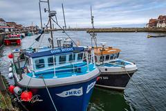 SJ2_0135 - The 'Good Intent' at Whitby (SWJuk) Tags: swjuk uk unitedkingdom gb britain england yorkshire northyorkshire yorkshirecoast whitby harbour estuary river riveresk fishingboats boats moored clouds 2019 jul2019 summer holidays nikon d7200 nikond7200 nikkor1755mmf28 rawnef lightroomclassiccc