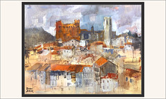 VALDERROBRES-PINTURA-PUEBLOS-MATARRAÑA-PAISAJES-VALLDEROURES-MATARRANYA-PANORAMICAS-CASTILLO-IGLESIA-CUADROS-PINTOR-ERNEST DESCALS (Ernest Descals) Tags: vallderoures valderrobres panoramica panoramicas skyline landscape landscaping castillo castle castell palacio iglesia esglesia casas paisajista sintesis conjunto tejados comarca matarranya matarraña teruel aragon españa spain pintura pinturas pintures quadres cuadros cuadro pintar pintando pintant monuments monumental monumentos historia estetica paint pictures arquitectura medieval pueblo village pueblos poble pobles pintores pintors pintor painter painters paintings painting ernestdescals paisatge paisatges paisajes paisaje artistas plasticos artistes