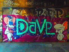 Dave (Steve Taylor (Photography)) Tags: mouse rat dave pinkyandthebrain cartoon graffiti streetart tag colourful neon vivid cool fun happy uk gb england greatbritain unitedkingdom london grumpy ears tail