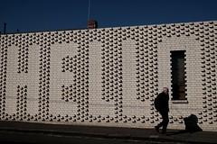 HELLO (jhnmccrmck) Tags: hello melbourne richmond fujifilm xt1 classicchrome fujifilmxt1 xf1855mm bricks 3121 victoria explore iminexplore