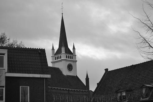 Brigittakerk in Ommen, zwart-wit (135FJAKA_2639)