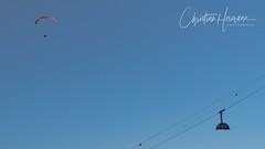 Pilatusbahn, Switzerland (Christian Hermann Fotografie) Tags: pilatus pilatusbahn pilatusbahnen seilbahn gondel paragleiter gleitschirm luzern lucerne lucerna nidwalden hergiswil kriens eigenthal klimsen klimsenkapelle seile lines tourismus blau blue bleue blu minimalismus minimalisme minimalism sky paragliding gliding christianhermannfotografie saxuisse nikon nikkor d800