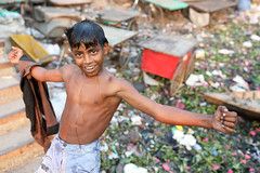 Bangladesh, happy street boy in Dhaka (Dietmar Temps) Tags: asia bangladesh boy child culture developingcountry dhaka homelessness human humanity kid loneliness male orphan outdoor people person poor poverty streetchildren streetkids streetyouth young shower happy
