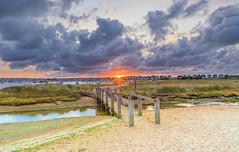 The End Of Summer (nicklucas2) Tags: seascape hengistburyhead sea seaside dorset cloud sunrise sun