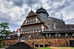 Kurmittelhaus (tom22_allgaeu) Tags: germany deutschland europa kurhaus rheinlandpfalz badmünster clouds nikon europe wolken architektur freehand tamron topaz freihand nahetal