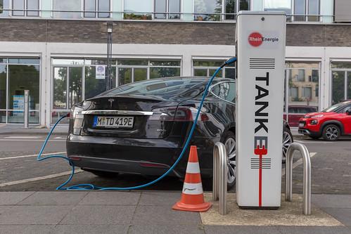 Tesla Model S at a German