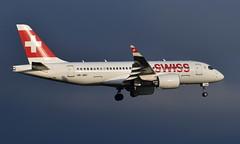 Swiss HB-JBC, OSL ENGM Gardermoen (Inger Bjørndal Foss) Tags: hbjbc swiss airbus a220 bombardier cs100 osl engm gardermoen
